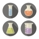 Vector Flask Set. - GraphicRiver Item for Sale