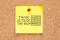 Think Outside The Box Sticky Note - PhotoDune Item for Sale