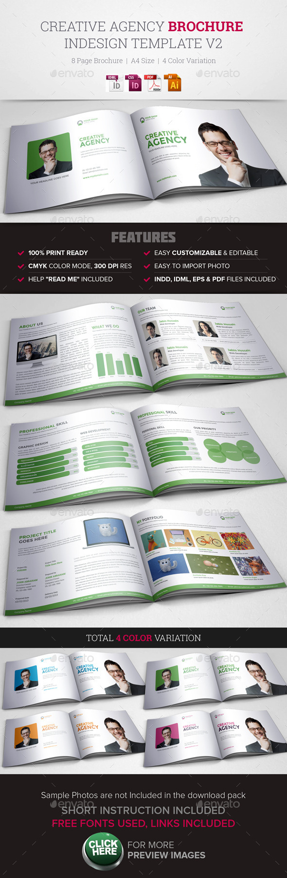 GraphicRiver Creative Agency Brochure InDesign Template v2 11473185