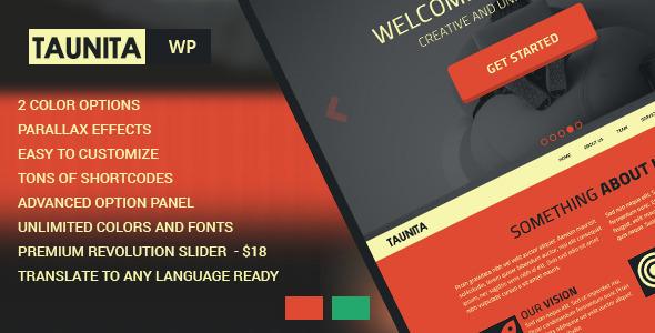 Taunita - Responsive Multi-Purpose Wordpress Theme - Corporate WordPress