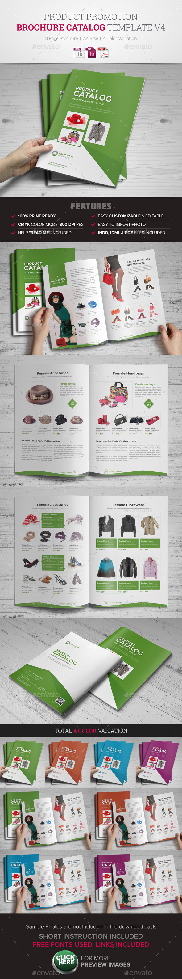 GraphicRiver Product Promotion Catalog InDesign Template v4 11473441