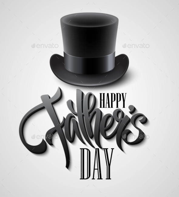 GraphicRiver Black Top Hat Isolated On White With Text Happy 11473711