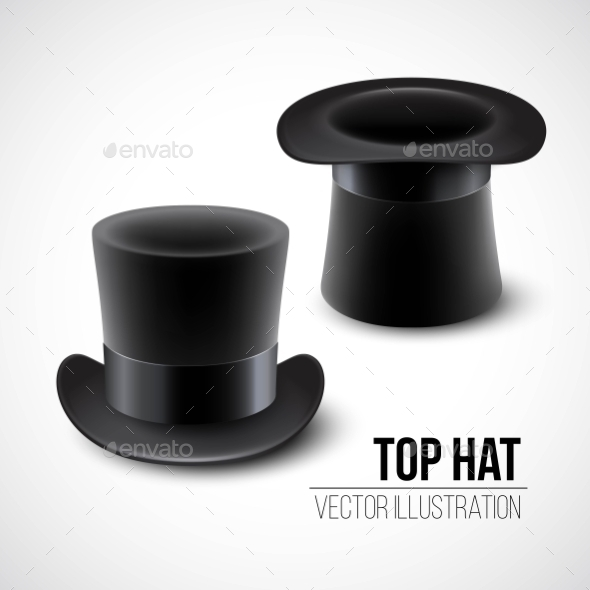 GraphicRiver Black Top Hat Vector Illustration Isolated 11473712