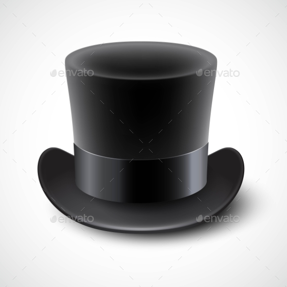 GraphicRiver Black Top Hat Vector Illustration Isolated On 11473713