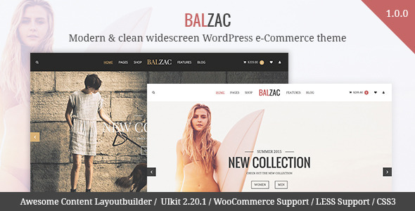 ThemeForest Balzac Modern & clean WooCommerce theme 11244270