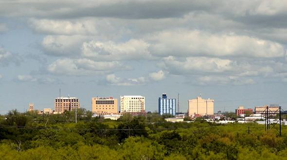 VideoHive Clouds Passing Wichita Falls Texas City Skyline 11474151