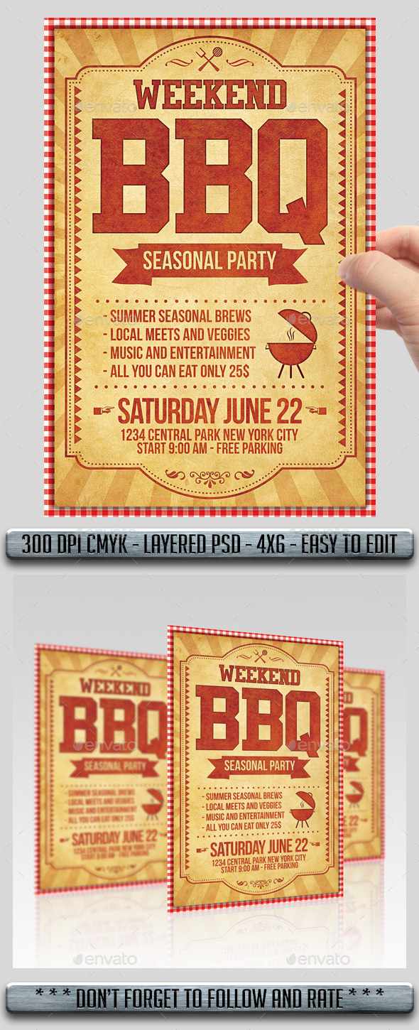 GraphicRiver BBQ Barbecue Flyer 11474281