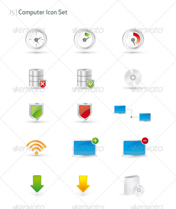 Computer Icon Set - Technology Icons