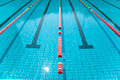 Blue line of lane in clear swimming pool - PhotoDune Item for Sale