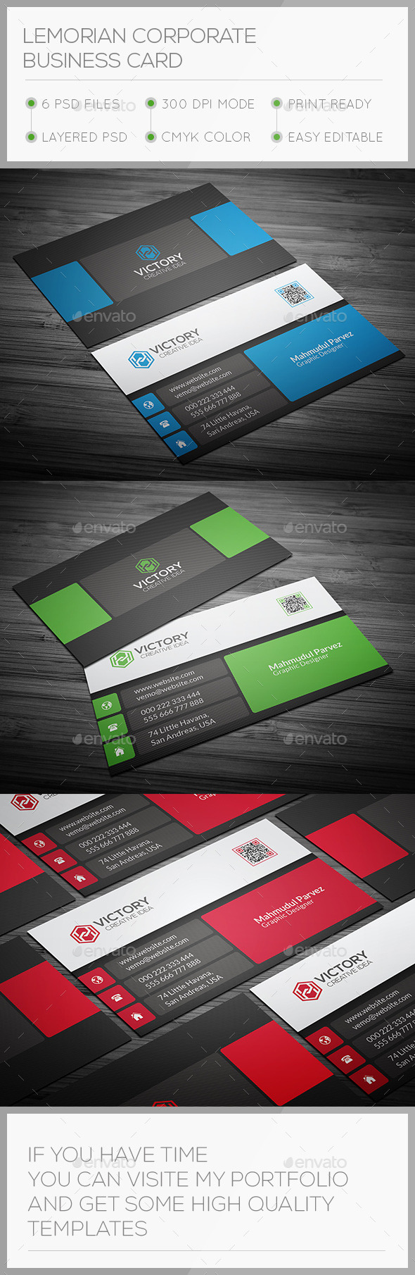 GraphicRiver Lemorian Corporate Business Card 11474607