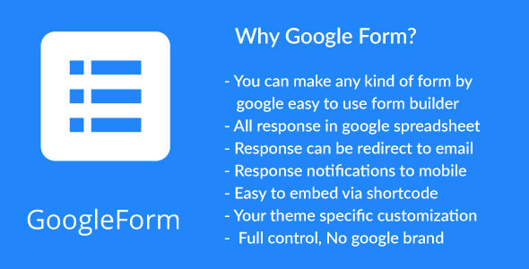 CodeCanyon WordPress Plugin to Embed Google Form 11474809