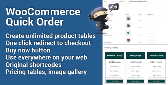 CodeCanyon WooCommerce Quick Order 11474987