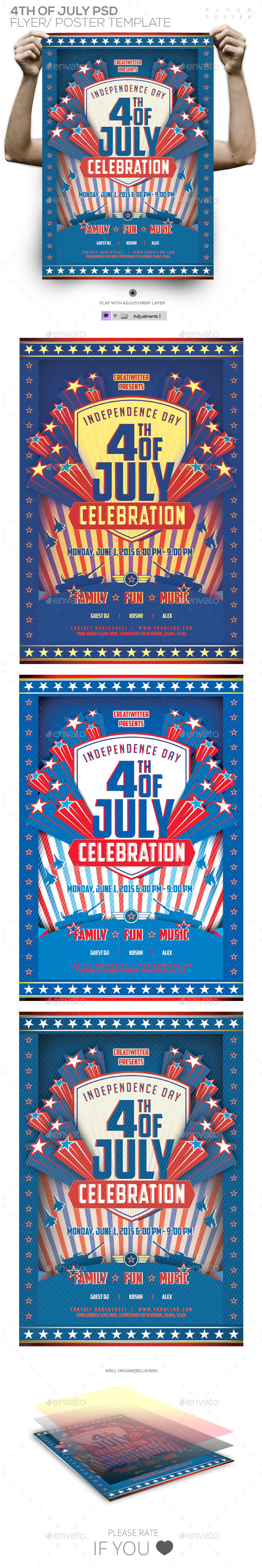 GraphicRiver 4th of July Poster 11475241