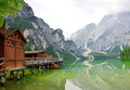 Boathouse at the Lago di Braies - PhotoDune Item for Sale
