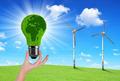Eco Light bulb in hand - PhotoDune Item for Sale