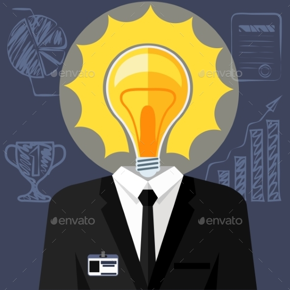 GraphicRiver Bulb Headed Man 11475340