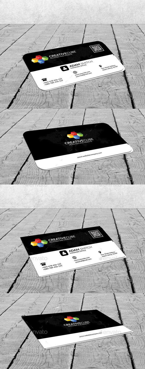 GraphicRiver Creative Cube Clean Business Card 11475382