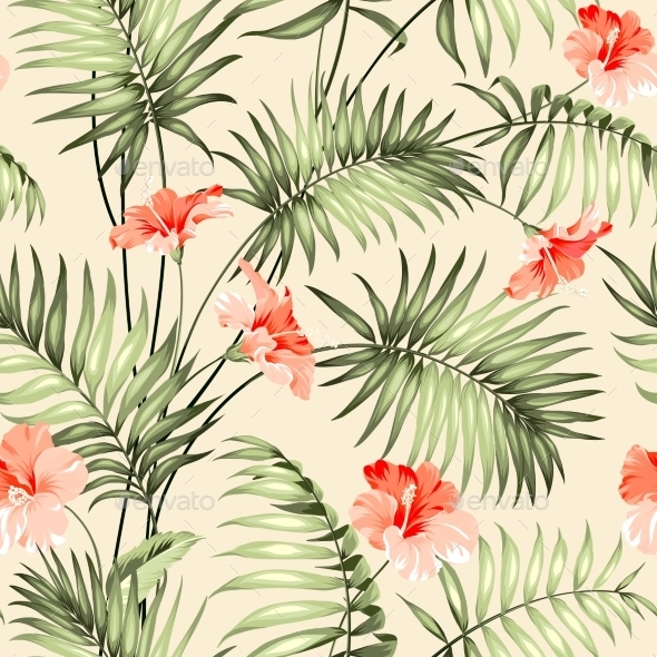 GraphicRiver Seamless Pattern Of a Palm 11476038