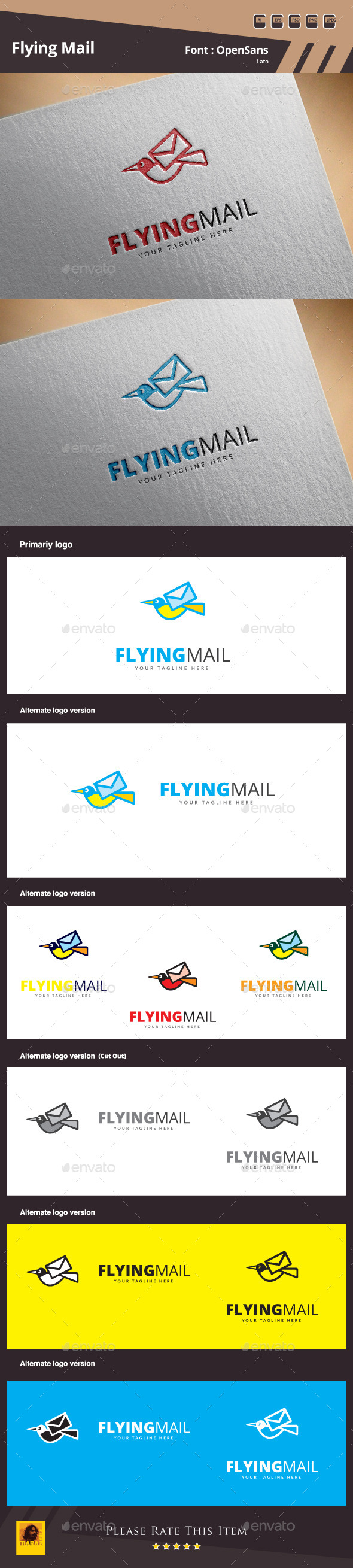 GraphicRiver Flying Mail Logo Template 11476051
