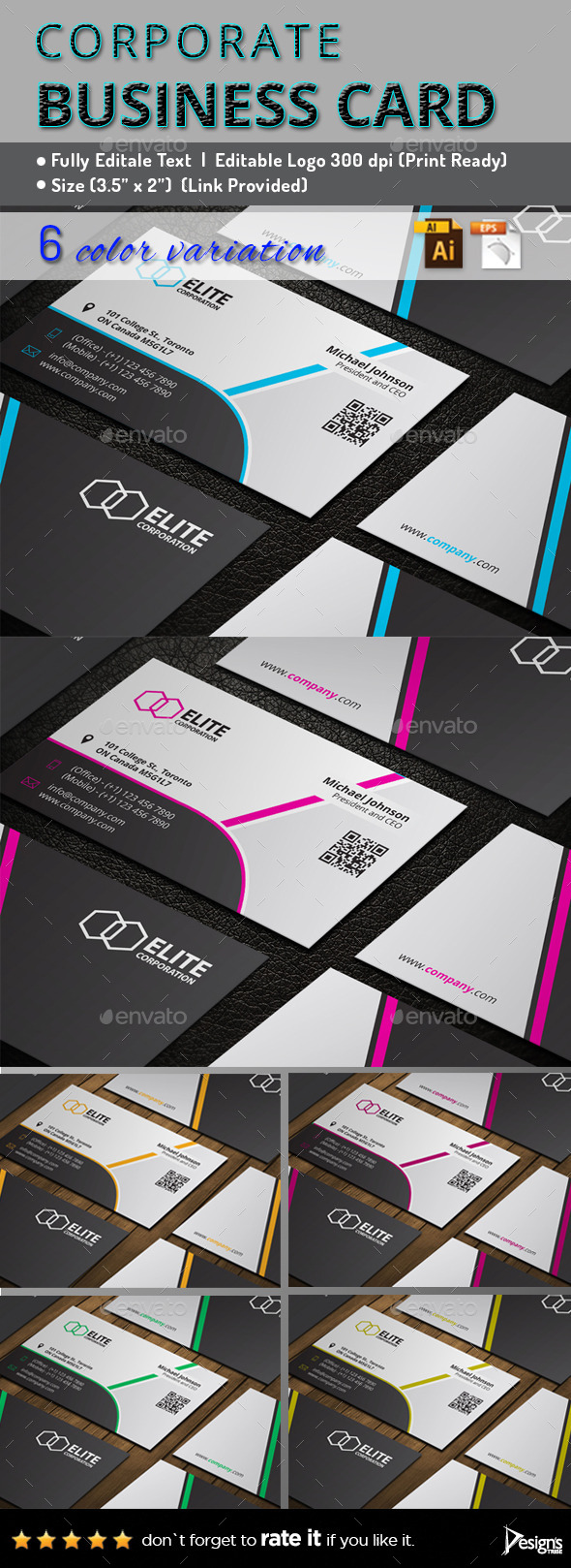 GraphicRiver Business Card 142 11476058