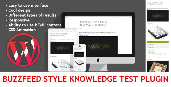 CodeCanyon Wordpress BuzzFeed Style Knowledge Test Plugin 11402486