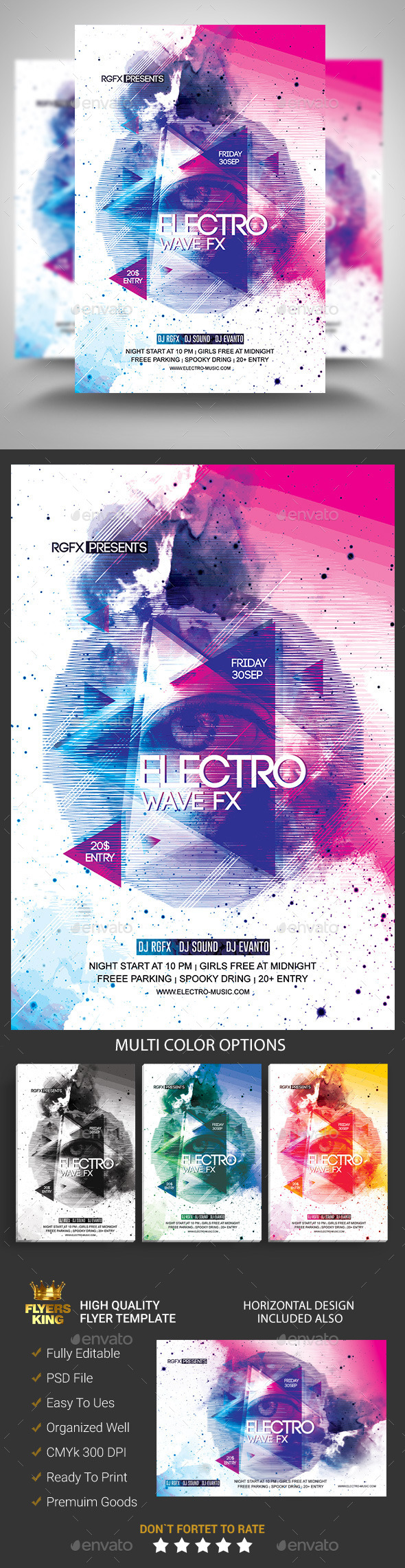 GraphicRiver Electro Wave Fx Party Flyer 11476161