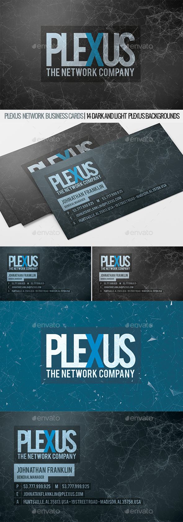 GraphicRiver Plexus Business Cards 11415961