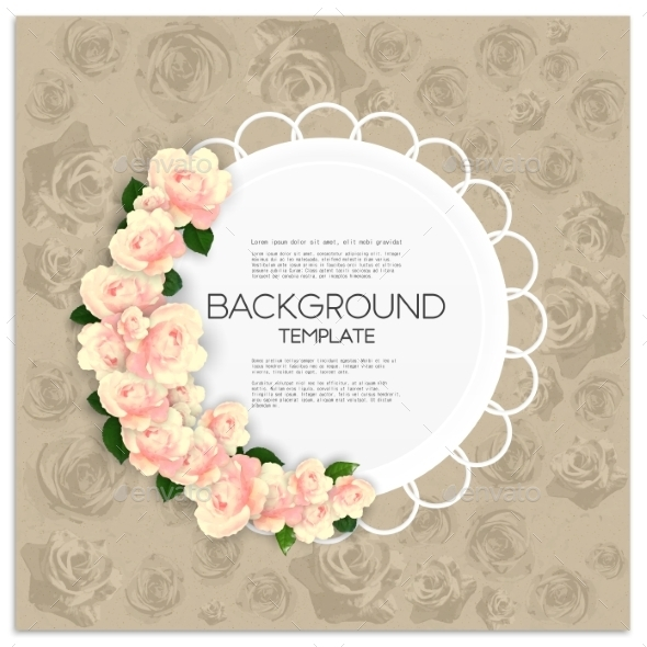 GraphicRiver Invitation Card With Place For Text And Pink 11476434