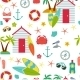 Seamless Pattern With Flat Travel Icons - GraphicRiver Item for Sale