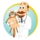 Older Male Veterinarian Holding Cat - GraphicRiver Item for Sale