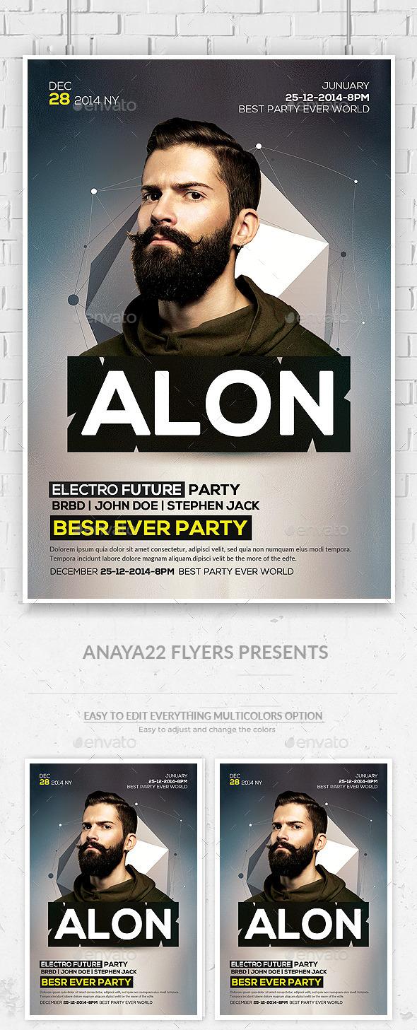 GraphicRiver Electro Concert Dj Flyer 11476700