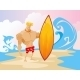 Surfer On The Beach Character - GraphicRiver Item for Sale