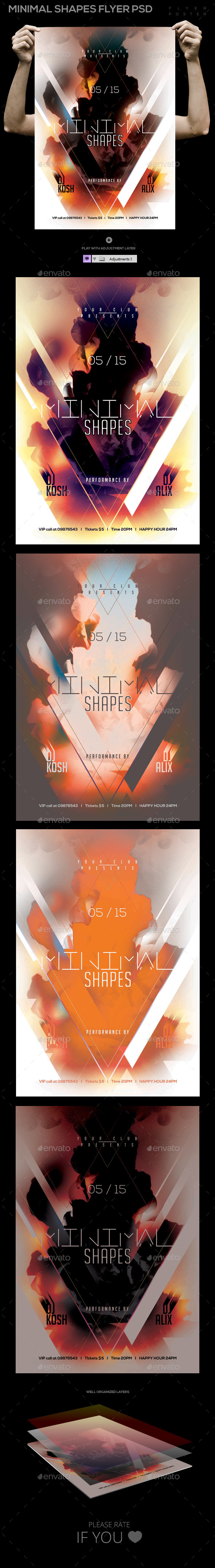 GraphicRiver Minimal Shapes Template PSD Flyer Poster 11476878