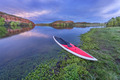 dusk over lake with paddleboard - PhotoDune Item for Sale