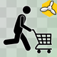 Stick Figure And Shopping Cart - VideoHive Item for Sale