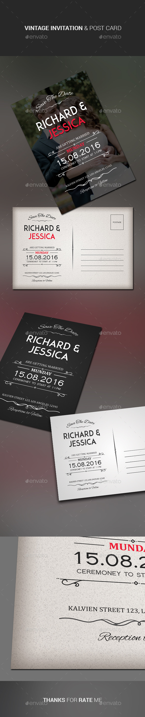 GraphicRiver Wedding Invitation & Post Card 11477326