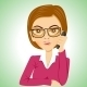 Secretary With Glasses Talking On Phone - GraphicRiver Item for Sale