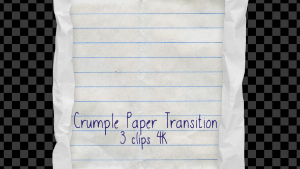Crumple Paper Transition