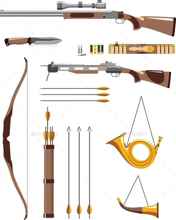 GraphicRiver Set of Hunting Weapons 11477660