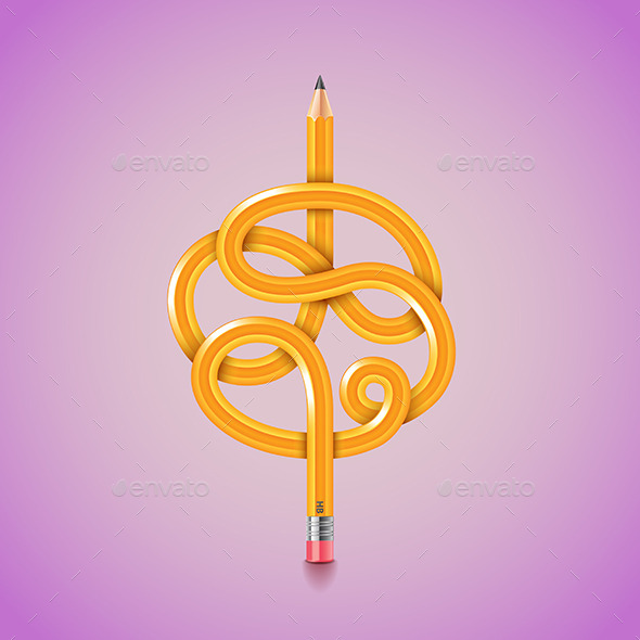 GraphicRiver Tangled Pencil 11477662