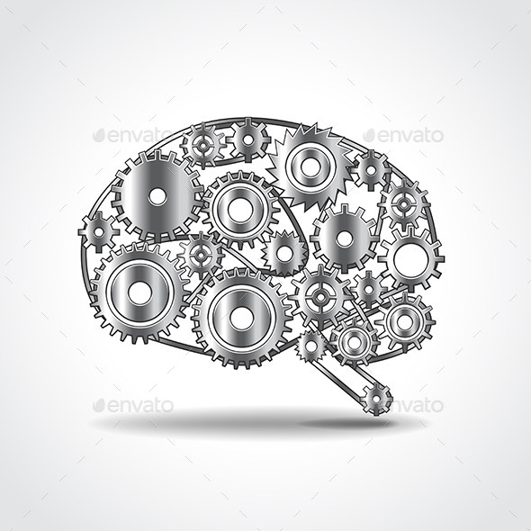 GraphicRiver Brain of Gears Vector Illustration 11477663