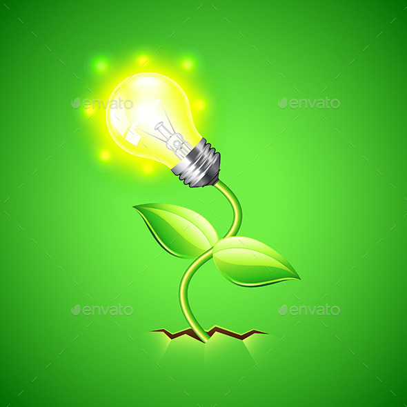 GraphicRiver Plant-Bulb Grows From the Ground Vector Background 11477665