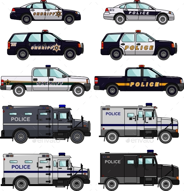 GraphicRiver Police Cars 11477703