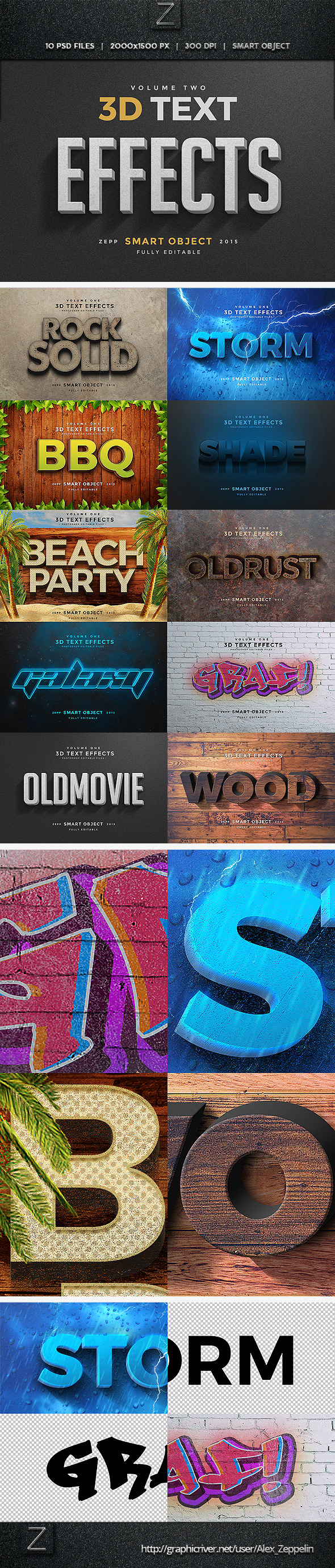 GraphicRiver 3D Text Effects Vol.2 11477715