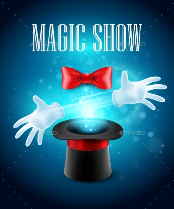 GraphicRiver Magic Trick Performance Circus Show Concept 11477811