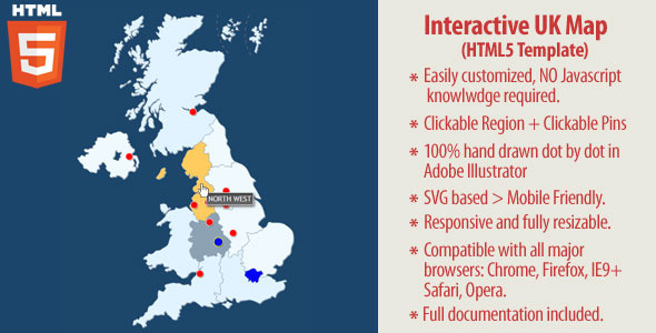 Interactive UK Map - HTML5