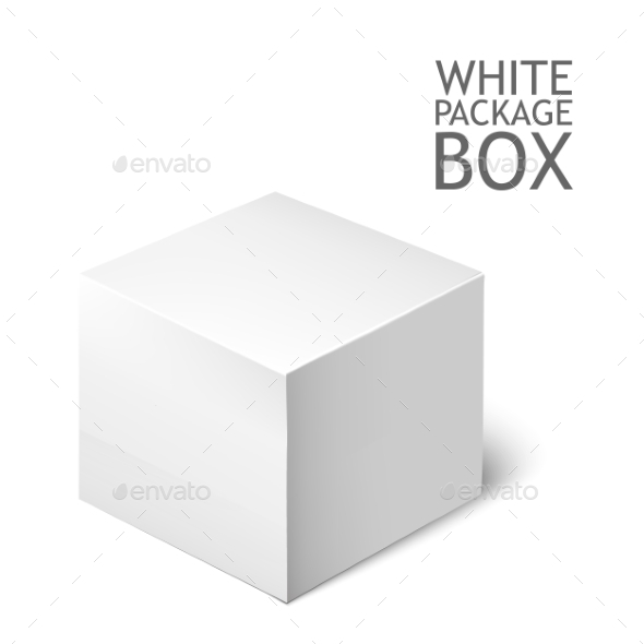 GraphicRiver White Package Square Cardboard Package Box 11477854