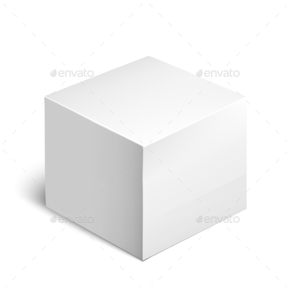 GraphicRiver Cardboard Package Box White Package Square 11477864