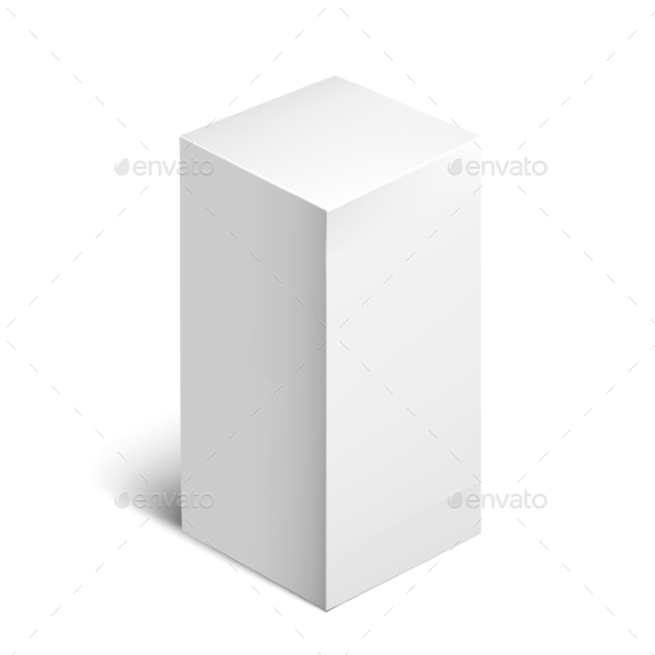 GraphicRiver White Package Square Cardboard Package Box 11477866