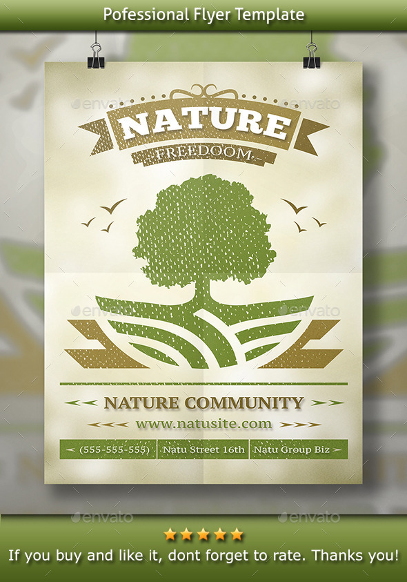 GraphicRiver Nature Flyer 11477883